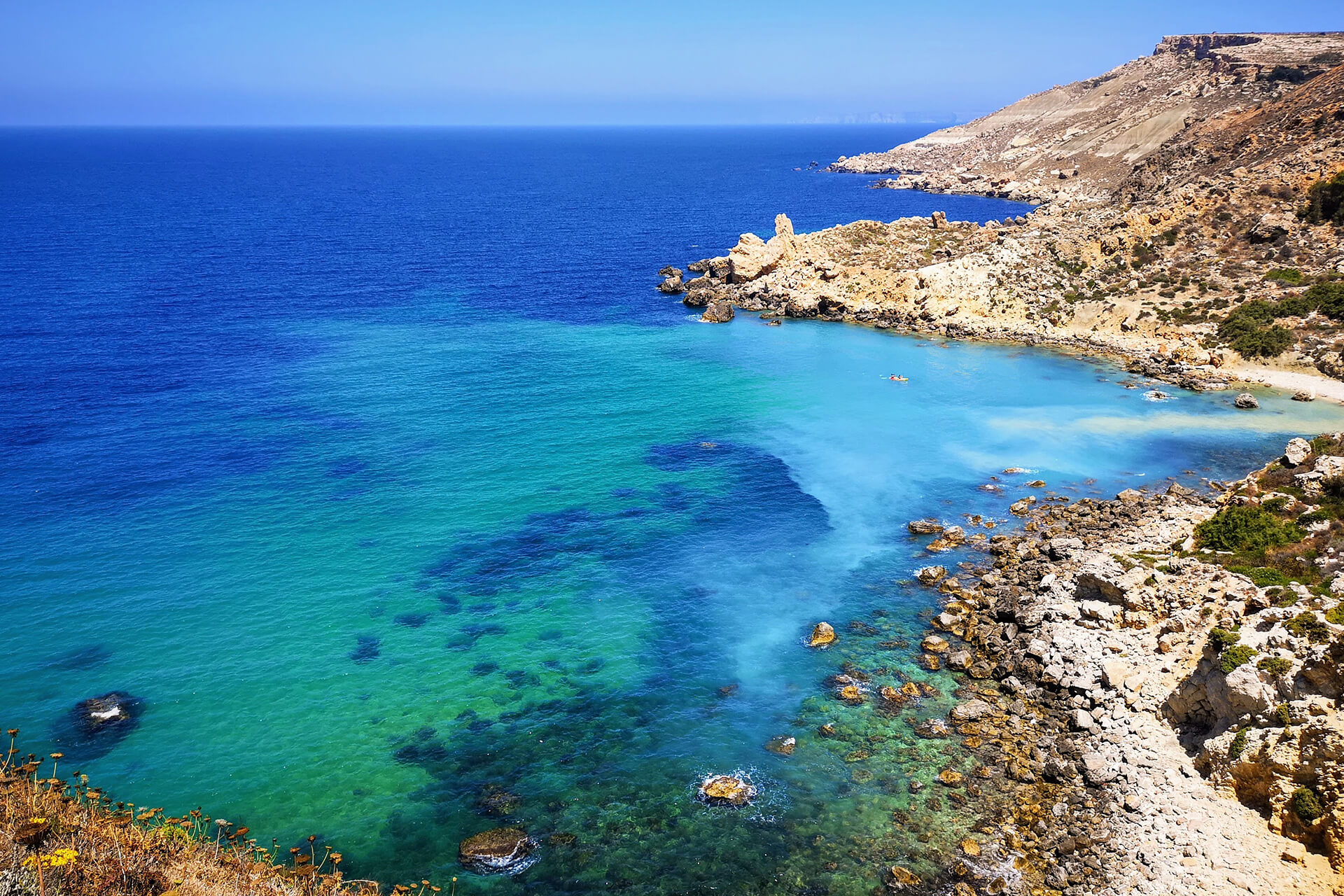 Plage sauvage Malte