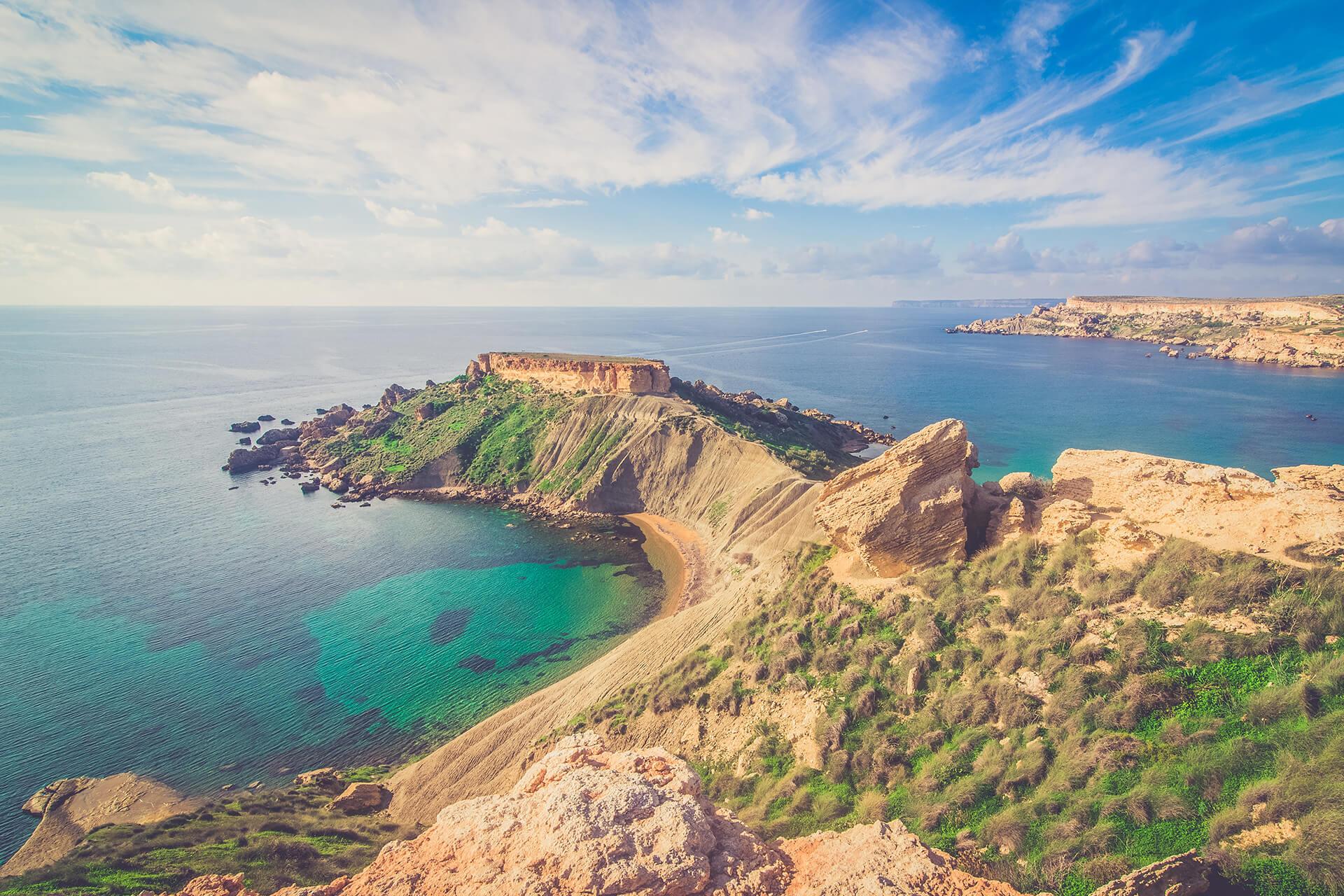Magnífica vista de Malta