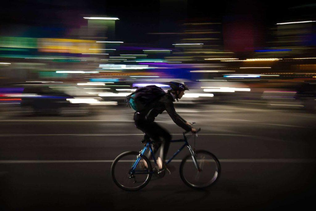 repartidor de bicicleta